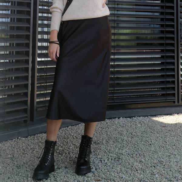 Bilde av NA-KD - Shiny Skirt Svart